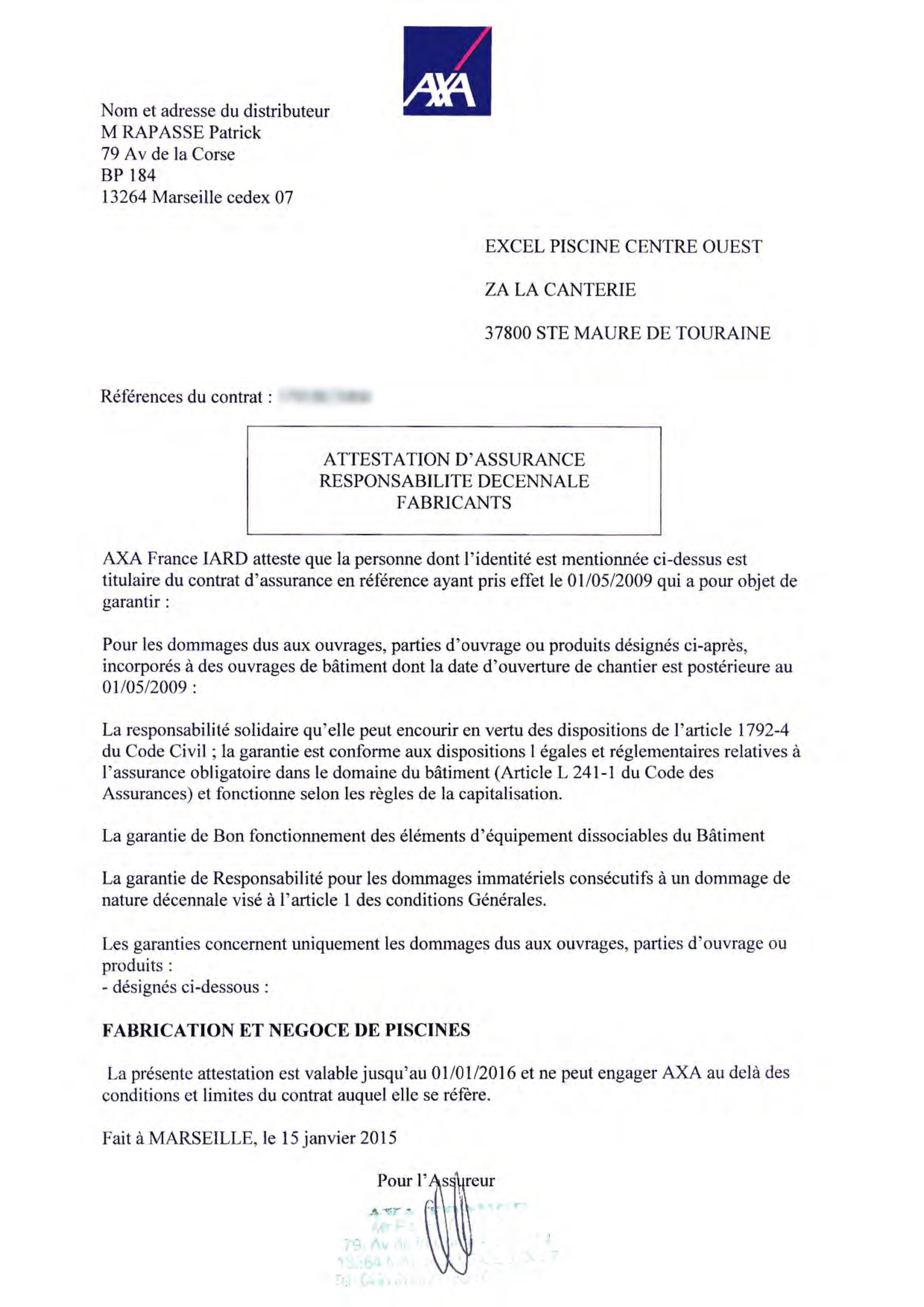 Modele Attestation Garantie Decennale Document Online
