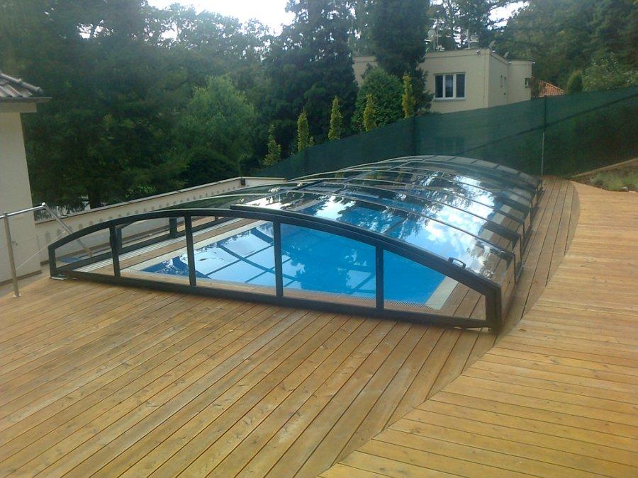 Abri de piscine télescopique Barcelone