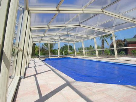 Abri de piscine télescopique VENUS haut 3 angles