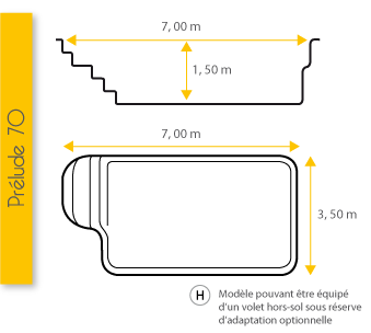 Piscine Excel Modèle Prélude 70